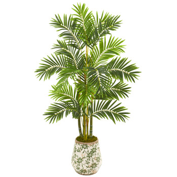 61 Areca Palm Artificial Tree in Floral Planter - SKU #9808
