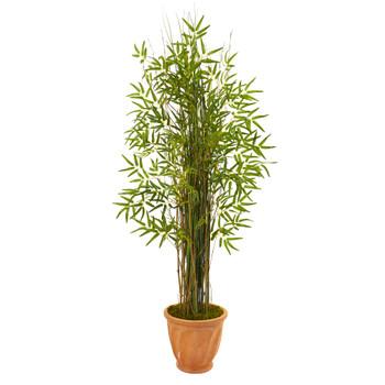 64 Bamboo Grass Artificial Plant in Terra-Cotta Planter - SKU #9822
