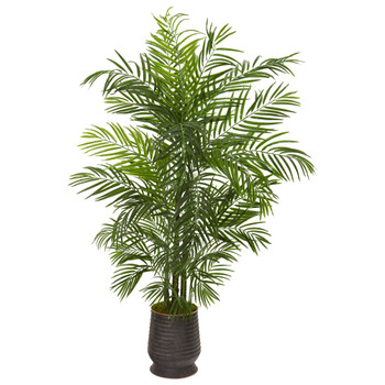 65 Areca Artificial Palm Tree in Decorative Planter UV Resistant Indoor/Outdoor - SKU #9830