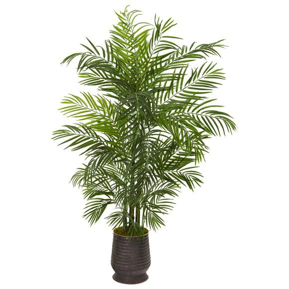 65 Areca Artificial Palm Tree in Decorative Planter UV Resistant Indoor/Outdoor - SKU #9830