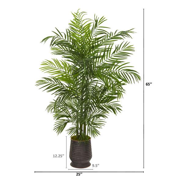 65 Areca Artificial Palm Tree in Decorative Planter UV Resistant Indoor/Outdoor - SKU #9830 - 1