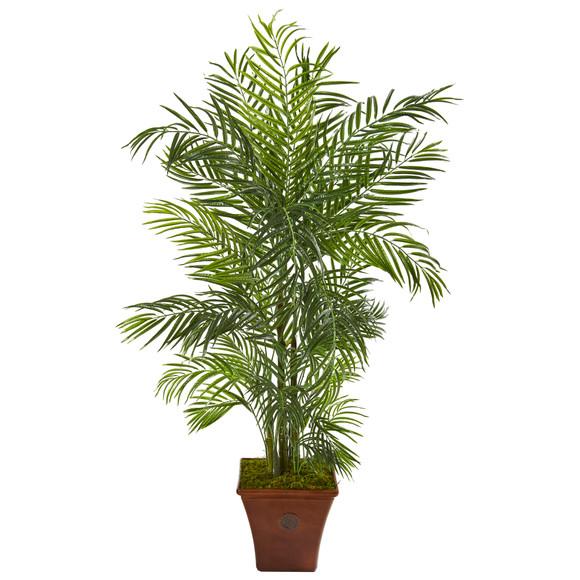 5 Areca Artificial Palm Tree in Brown Planter UV Resistant Indoor/Outdoor - SKU #9831