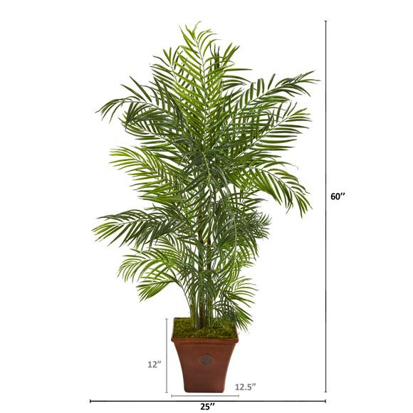 5 Areca Artificial Palm Tree in Brown Planter UV Resistant Indoor/Outdoor - SKU #9831 - 1