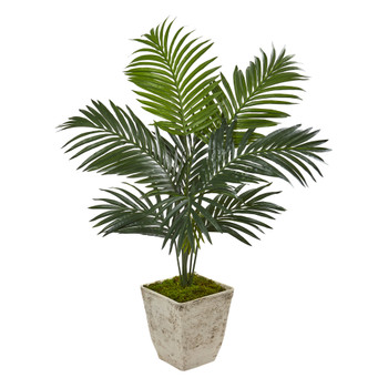 46 Kentia Artificial Palm Tree in Country White Planter - SKU #9834
