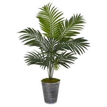 46 Kentia Artificial Palm Tree in Decorative Planter - SKU #9835