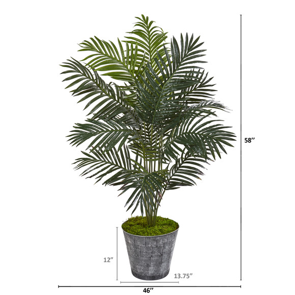 58 Paradise Palm Artificial Tree in Decorative Planter - SKU #9842 - 1