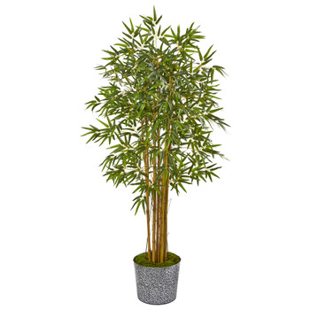5 Bamboo Artificial Tree in Tin Planter - SKU #9852