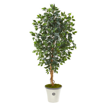 65 Ficus Artificial Tree in Decorative Planter - SKU #9856