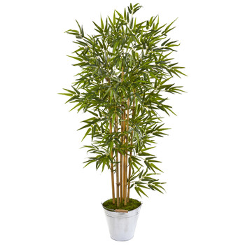 62 Bamboo Artificial Tree in Tin Bucket - SKU #9865