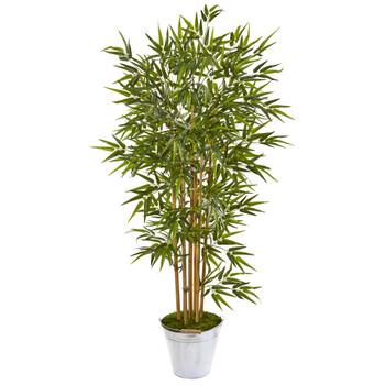 62 Bamboo Artificial Tree in Tin Bucket - SKU #9865