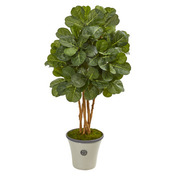 57 Fiddle Leaf Fig Artificial Tree in Decorative Planter - SKU #9867