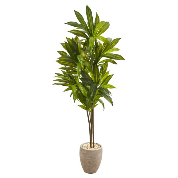68 Dracaena Artificial Plant in Sand Colored Planter Real Touch - SKU #9875