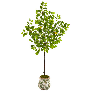 5 Lemon Artificial Tree in Floral Planter - SKU #9889