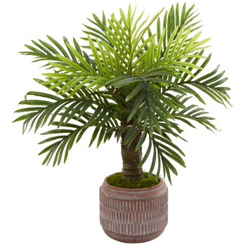 27 Robellini Palm Artificial Tree in Stoneware Planter - SKU #9906