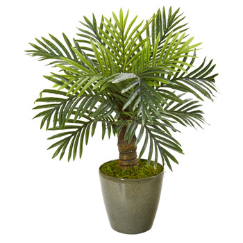 26 Robellini Palm Artificial Tree in Green Planter - SKU #9908