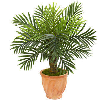 26 Robellini Palm Artificial Tree in Terra-Cotta Planter - SKU #9911