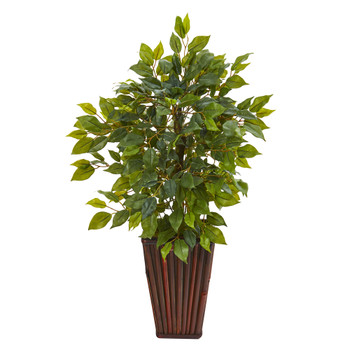 19 Mini Ficus Artificial Tree in Decorative Planter - SKU #9913