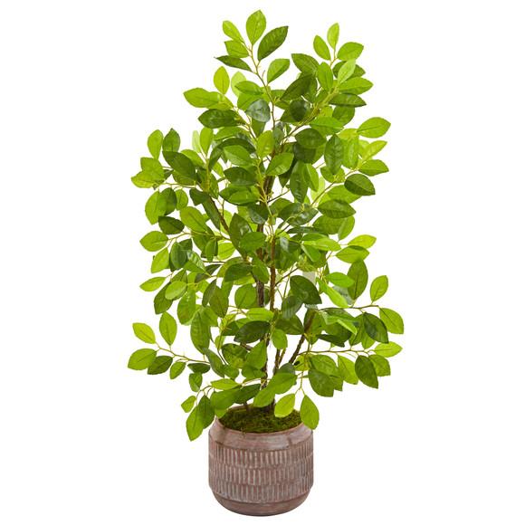 34 Ficus Artificial Tree in Stoneware Planter - SKU #9920