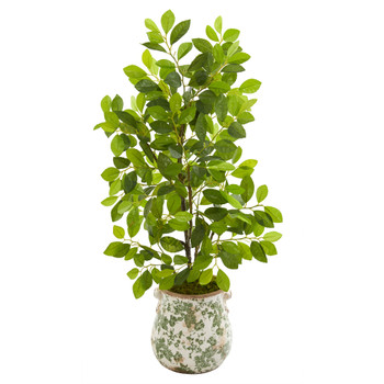 36 Ficus Artificial Tree in Floral Planter - SKU #9922