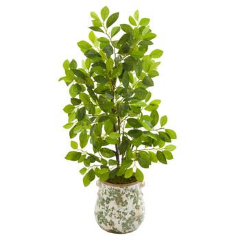 36 Ficus Artificial Tree in Floral Planter - SKU #9922