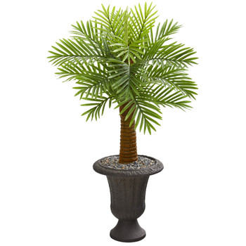 42 Robellini Palm Artificial Tree in Decorative Brown Urn - SKU #9940