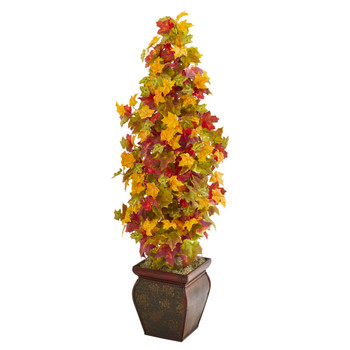 40 Autumn Maple Artificial Tree in Decorative Planter - SKU #9943