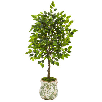 40 Mini Ficus Artificial Tree in Floral Planter - SKU #9944