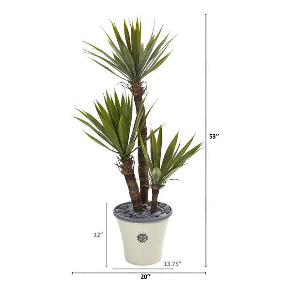 53 Yucca Artificial Tree in Decorative Planter - SKU #9965 - 1