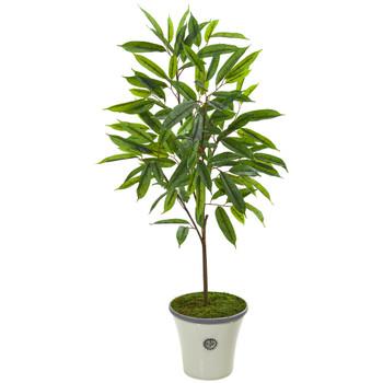 53 Ficus Artificial Plant in Decorative Planter - SKU #9981