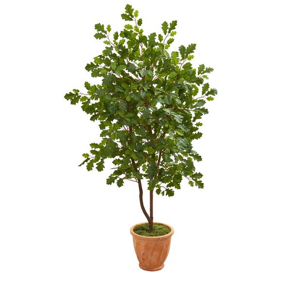 53 Oak Artificial Tree in Terra-Cotta Planter - SKU #9995