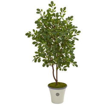 53 Oak Artificial Tree in Decorative Planter - SKU #9996