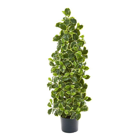 39 Variegated Holly Leaf Artificial Tree Real Touch - SKU #9997