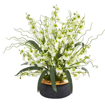 19 Dancing Lady Artificial Arrangement in Vase - SKU #A1039-GR