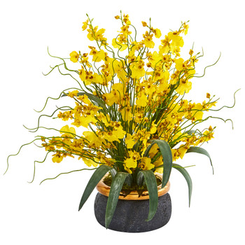 19 Dancing Lady Artificial Arrangement in Vase - SKU #A1039
