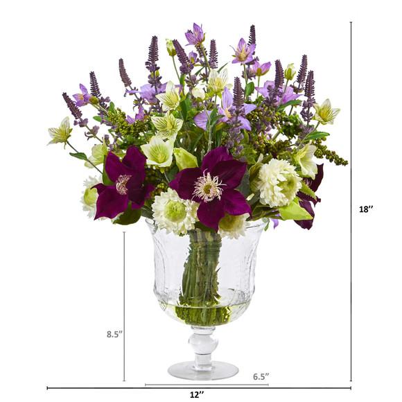 Mixed Flower Artificial Arrangement in Royal Urn - SKU #A1052 - 1