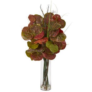 44 Sea Grape Artificial Arrangement in Vase - SKU #A1067
