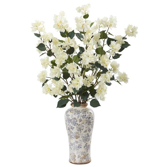 39 Bougainvillea Artificial Arrangement in Decorative Vase - SKU #A1155 - 2