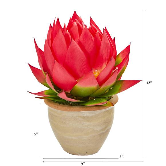12 Musella Artificial Arrangement in Decorative Vase - SKU #A1234-RD - 1