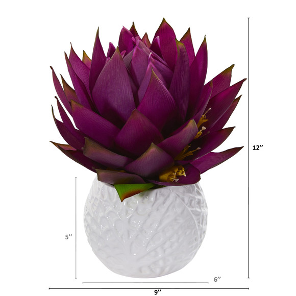 12 Musella Artificial Arrangement in White Vase - SKU #A1290-PP - 1