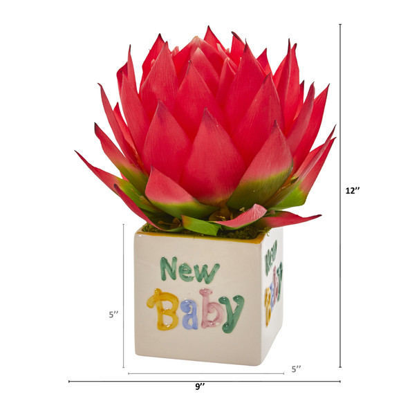 12 Musella Artificial Arrangement in New Baby Vase - SKU #A1299 - 1