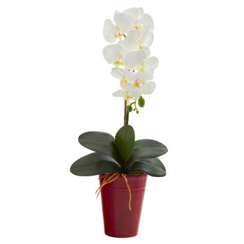 23 Phalaenopsis Orchid Artificial Arrangement in Vase - SKU #A1337
