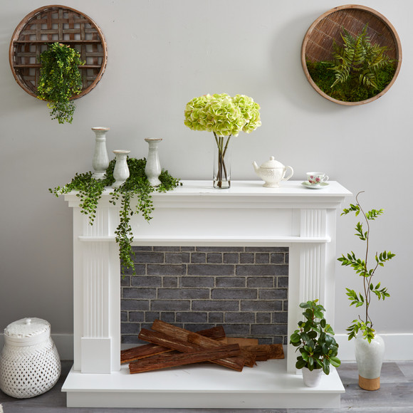 18 Hydrangea Artificial Arrangement in Glass Vase - SKU #A1499 - 3