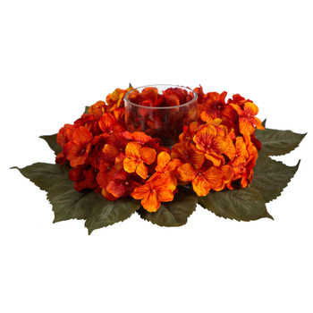 14 Autumn Hydrangea Artificial Candelabrum Arrangement - SKU #A1601