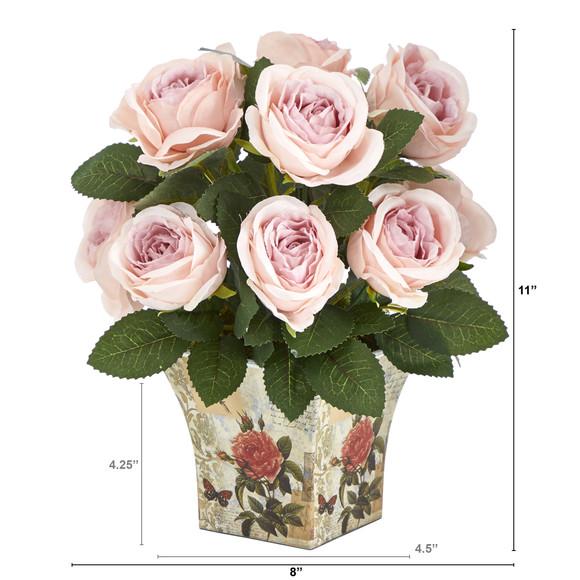 11 Rose Artificial Arrangement in Floral Vase - SKU #A1604 - 1