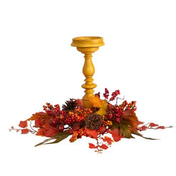 15 Harvest Fall Artificial Candelabrum Arrangement - SKU #A1775