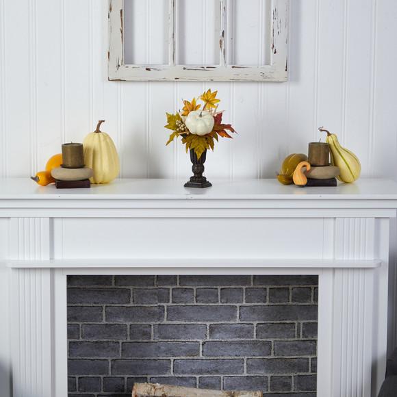 13 Fall Pumpkin and Berries Artificial Autumn Arrangement in Decorative Urn - SKU #A1779 - 3