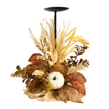 12 Autumn Harvest and Pumpkin Fall Candle Holder - SKU #A1782