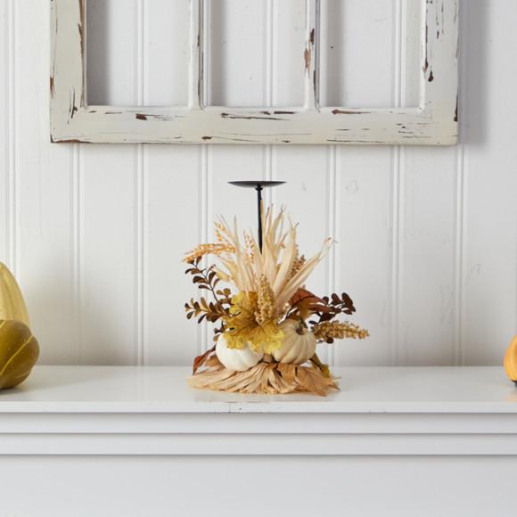 12 Autumn Harvest and Pumpkin Fall Candle Holder - SKU #A1782 - 2