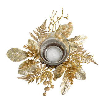 10 Golden Artificial Christmas Candelabrum - SKU #A1841