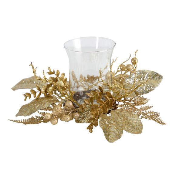 10 Golden Artificial Christmas Candelabrum - SKU #A1841 - 2